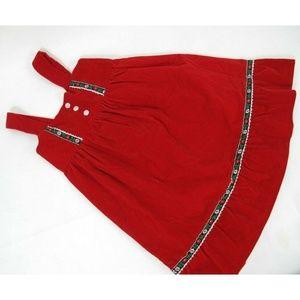 Other - Red Velvet Dress Christmas sleeveless girls Sz 6